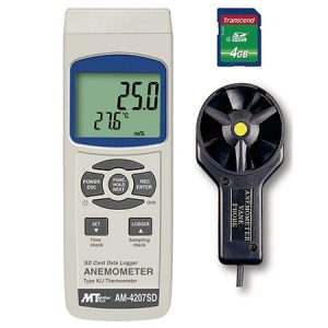 DATA LOGGER ANEMOMETER AM-4207SD