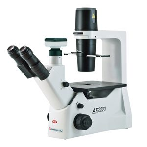 SHIMADZU INVERTED MICROSCOPE AE2000-MU