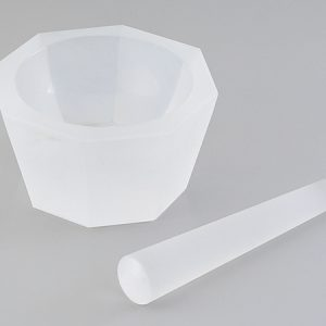 AS ONE QUARTZ GLASS MORTAR í90 x í110 x 38 WITH PESTLE
