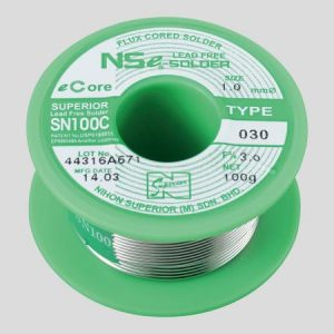 NIHON SUPERIOR LEAD-FREE RESIN FLUX CORED SOLDER SN100C030F30.8x100g